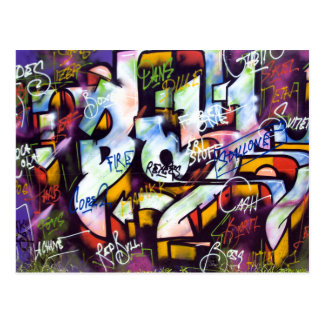 Pop Culture Graffiti Urban Street Art Postcard