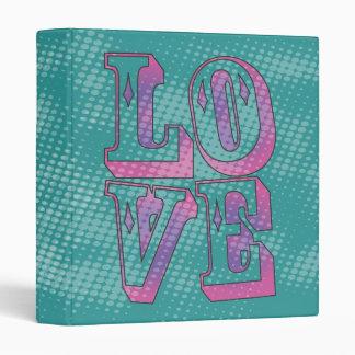 Pop Culture Grunge Love Typography Graphic Vinyl Binder