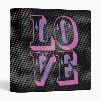 Pop Culture Grunge Love Typography Graphic Vinyl Binders