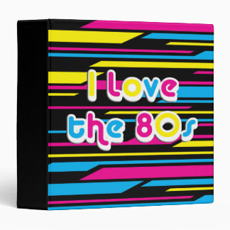 Pop Culture Retro I love the 80s 3 Ring Binders