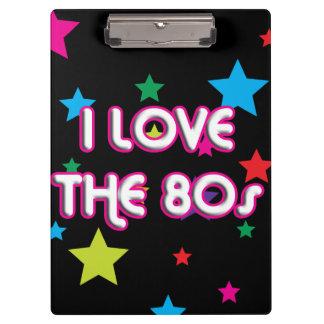 Pop Culture Retro I love the 80s Clipboard