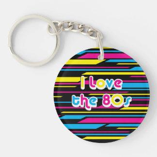 Pop Culture Retro I love the 80s Key Chains