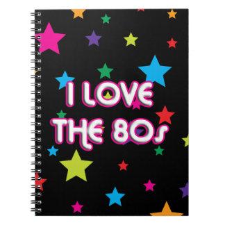 Pop Culture Retro I love the 80s Spiral Note Book