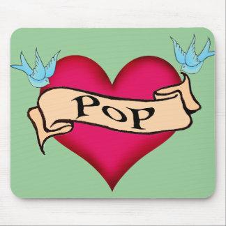 Pop - Custom Heart Tattoo T-shirts & Gifts Mouse Pad