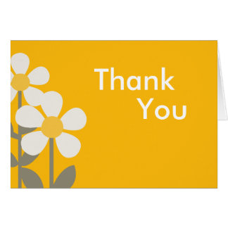 POP DAISY Yellow Folded Thank you note Note Card