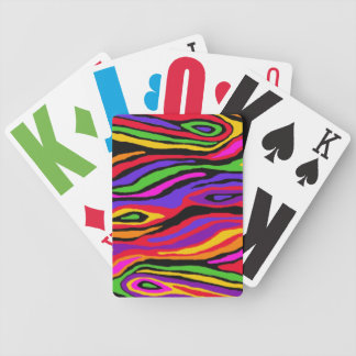 Pop Faux Bois Bicycle Playing Cards