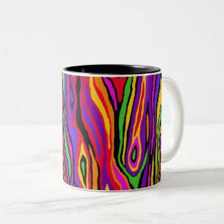 Pop Faux Bois Two-Tone Coffee Mug