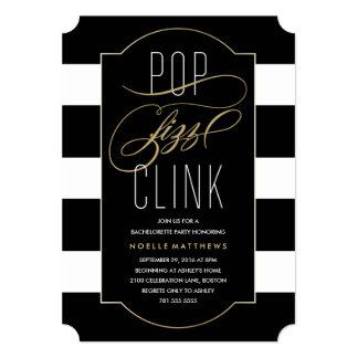 Pop Fizz Clink Bachelorette Party Invitation