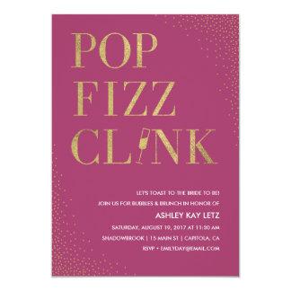 Pop Fizz Clink Bridal Shower Brunch Invitation