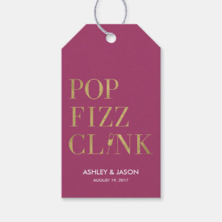 Pop Fizz Clink Favor Tags Pack Of Gift Tags