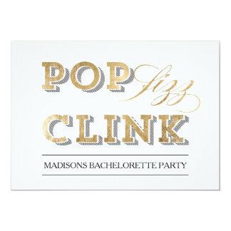 Pop Fizz Clink Party Invitation
