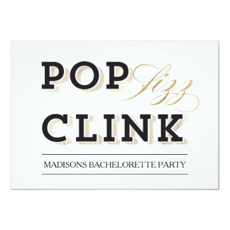 Pop Fizz Clink Party Invitation