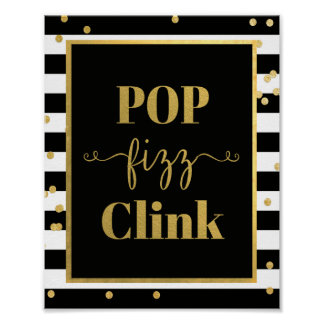 Pop Fizz Clink Sign