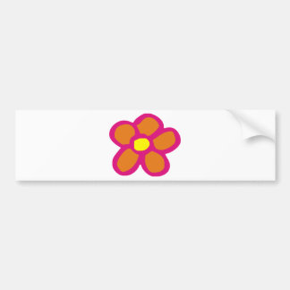 Pop Flower Bumper Stickers