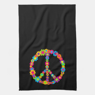 Pop Flower Power Peace Kitchen Towel