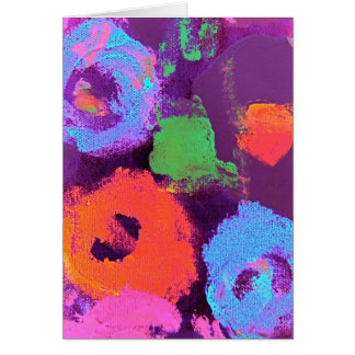 Pop Flowers Card lavender