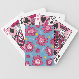 Pop Flowers pink Playing Cards