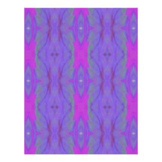 Pop Fluorescent Pink Lavender Chic Pattern Customized Letterhead