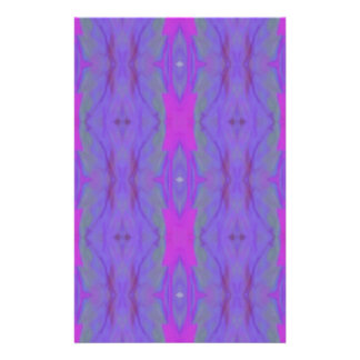 Pop Fluorescent Pink Lavender Chic Pattern Customized Stationery
