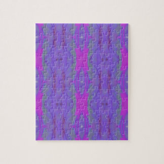 Pop Fluorescent Pink Lavender Chic Pattern Puzzle