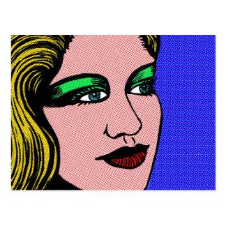 Pop Girl Postcard