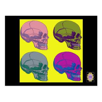 Pop go the skulls postcard