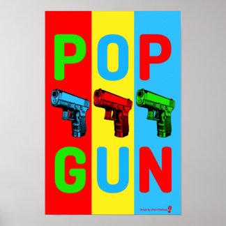 Pop Gun Pop Art Poster