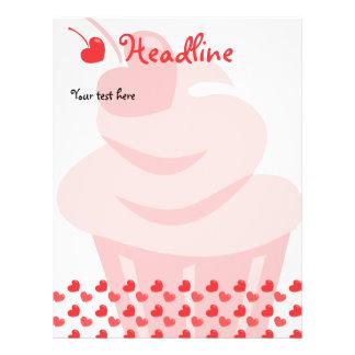 Pop Heart Cupcake Personalized Flyer