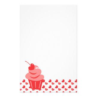Pop Heart Cupcake Stationery