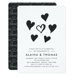 Pop Hearts | Engagement Party Invitation