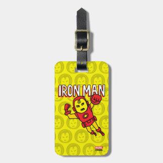 Pop Iron Man with Logo Luggage Tag