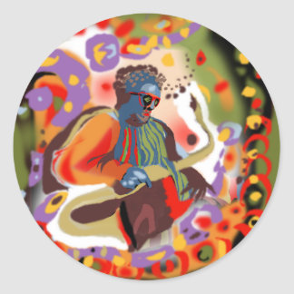 **Pop Jazz MAn** Classic Round Sticker