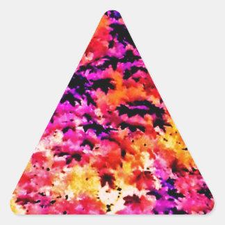 Pop Leaves Triangle Sticker