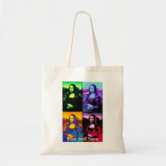 pop mona lisa tote bag