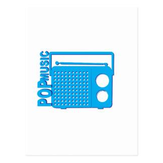 Pop Music Postcard