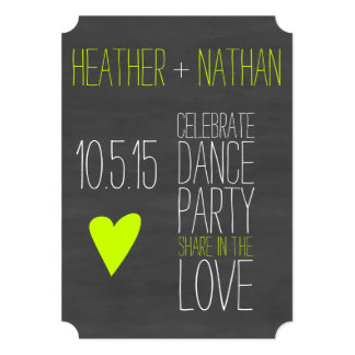 Pop Of Color Chalkboard Save The Date Card