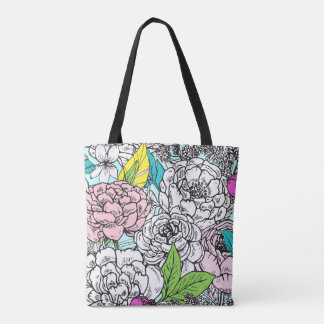 Pop Of Floral Tote Bag