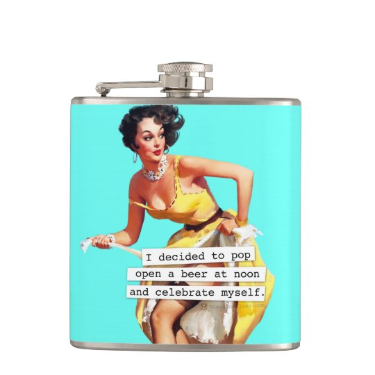 Pop Open a Beer At Noon Flasks