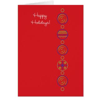 Pop Ornaments Card