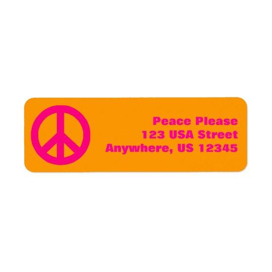 Pop Peace Sign Return Address Label