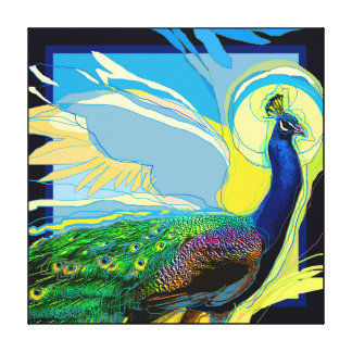 Pop-Peacock Canvas Print