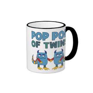 Pop Pop of Twins Ringer Coffee Mug