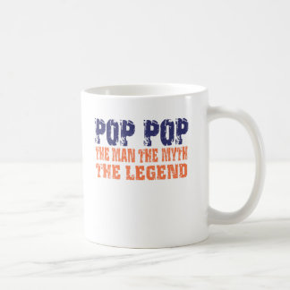 Pop Pop (Orange Blue) Coffee Mug