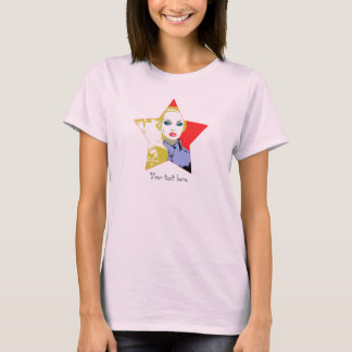 Pop Portrait Doll Art in Star T-Shirt