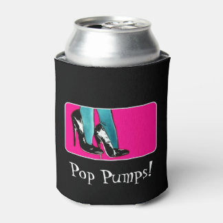 'Pop Pumps!' on a Can Cooler