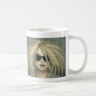 Pop Punk Grrrl Modern Painting Female Portrait Coffee Mug