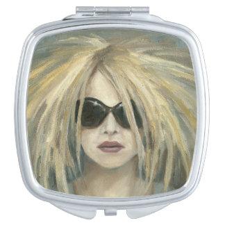 Pop Punk Grrrl Modern Painting Female Portrait Makeup Mirror