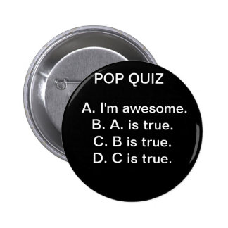 Pop Quiz#1 2 Inch Round Button
