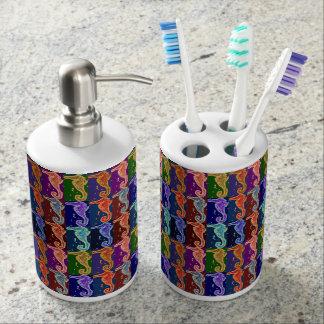 Pop Seahorse Pattern Toothbrush Holder