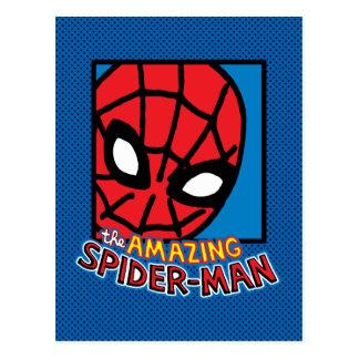 Pop Spider-Man Block with Logo Postcard